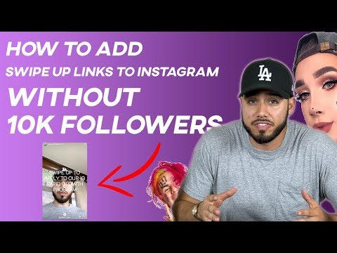 How to add swipe up links to instagram stories WITHOUT 10k Followers 2018