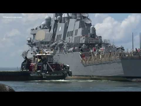Navy Ships Leave Bases Ahead Of Storm