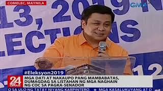 Mga dati at nakaupo pang mambabatas, dumagdag sa listahan ng mga naghain ng COC sa pagka-senador