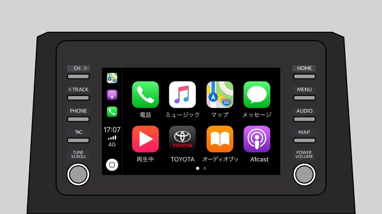 ディスプレイオーディオとApple CarPlayの設定方法
