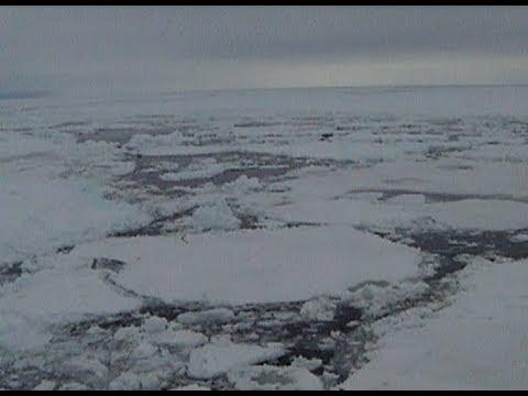 Antarctica Ross Sea.  Part 18. Sea ice , icebergs,  Scott Island