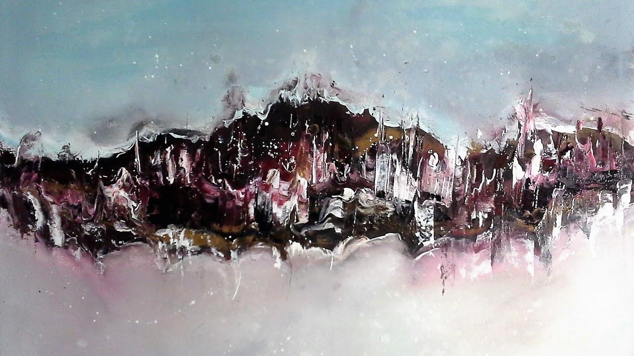 Spiel Mit Farben Abstrakte Acrylmalerei Abstracte Acrylic