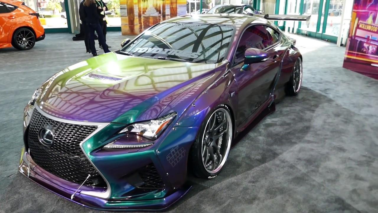Lexus Rc F Sport Custom Chameleon Purple Green Blue Paint Job 2017 La Auto Show