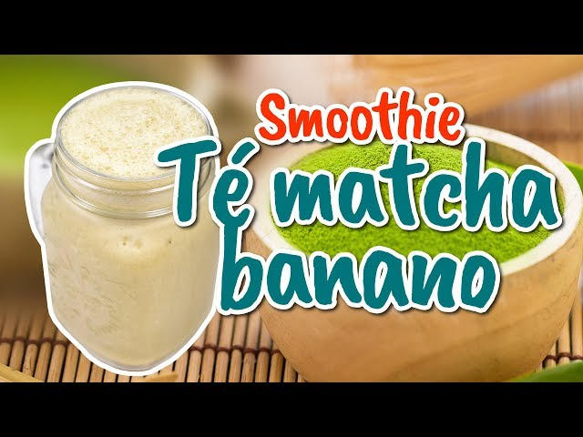 Smoothie de té matcha y banana para recargar energía