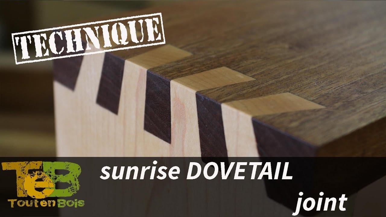 Hand cuting sunrise dovetail joint un assemblage queues d 39 aronde japonaises qui attire l il - Assemblage bois japonais ...