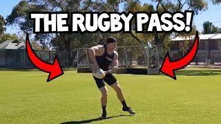 How to Pass a Rugby Ball   Rugby Skills Tutorial