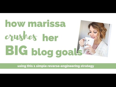 How Marissa Reverse Engineers Her Blogging Goals to Save Time