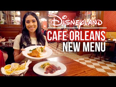 Cafe Orleans New Menu At Disneyland!