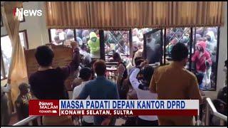 Unjuk Rasa Ricuh di Depan Kantor DPRD Konawe Selatan #iNewsMalam 28/09