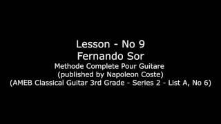 Lesson - No 9 - Fernando Sor