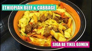 Ethiopian Beef & Cabbage - Ethiopian Recipe - Ethiopian Food - Ethiopian beef