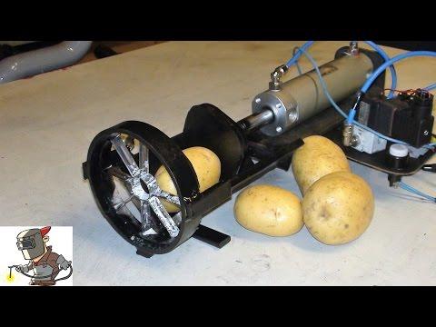 Building a pneumatic potato cutter