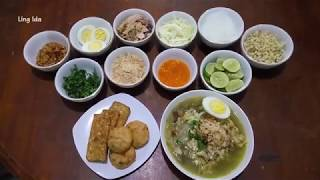 Resep Soto Ayam Lamongan (soto Ayam Lamongan Khas Jawa Timur) || Ling Ida