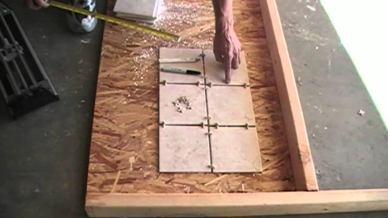 How to measure and mark floor tiles youtube how to measure and mark floor tiles dailygadgetfo Images