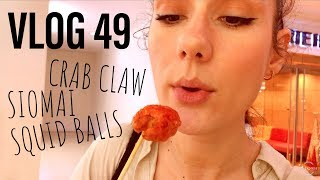 What's for lunch? Squid Balls, Crab Claw and Siomai in BGC | PHILIPPINES VLOG 49
