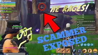 Scammer Obtient Scammed In Fortnite PVE (HE RAGED) 'MUST WATCH'