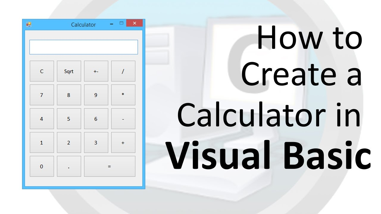 how to make a calculator with visual basic