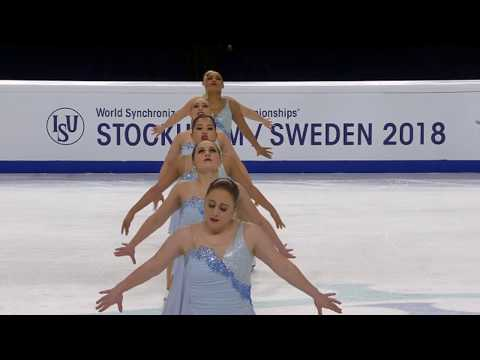 USA) TEAM SKYLINERS - SP / World Synchronized Championships 2018