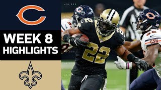 Bears vs. Saints | NFL Week 8 Game Highlights