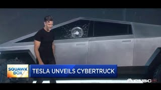 Tesla's unveiling of its new cybertruck didn't go as planned