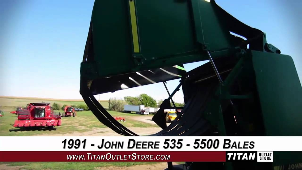 maxresdefault john deere 535,belt type,5500 bales of use, 2k max bale wt baler John Deere 535 Hay Baler at fashall.co