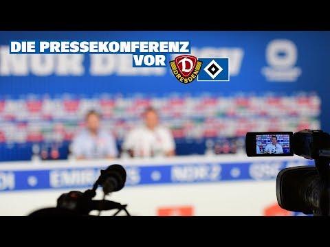 Die Pressekonferenz vor dem Auswärtsspiel gegen Dynamo Dresden