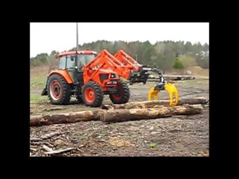 g n ral mat riel grappin forestier sur chargeur de tracteur grappin de d bardage youtube. Black Bedroom Furniture Sets. Home Design Ideas