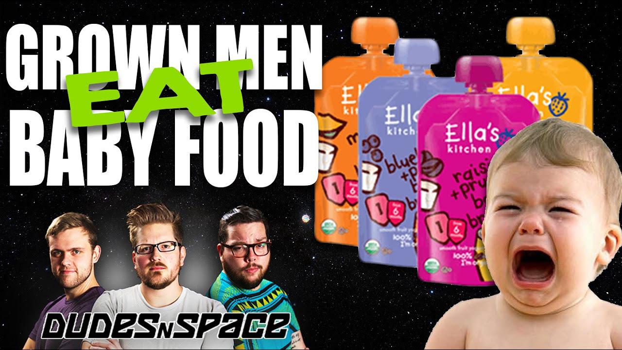 Grown Men Eat Organic Baby Food - Ella's Kitchen Baby Food Review - Dudes N Space