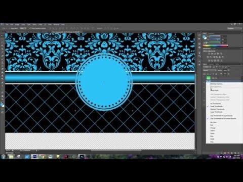HOW TO CREATE AMY'S PRETTY BLUE MONOGRAM MUG TEMPLATE