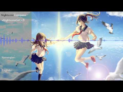 ♫ Nightcore ♫ - Compass with english and norwegian lyrics (Two Steps From Hell ft. Merethe Soltvedt)