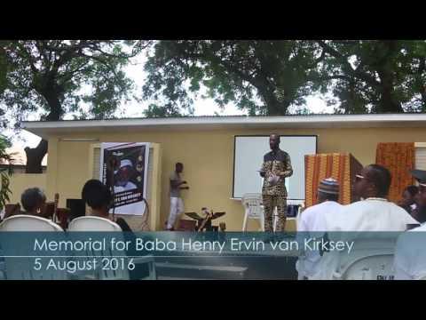 Memorial for Baba Henry Ervin van Kirksey