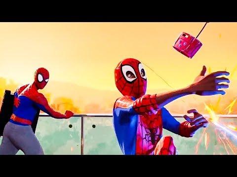 Spider-Man Into The Spiderverse 'Escape The Facility' Full Scene (2018) HD