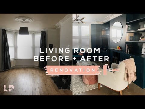 LIVING ROOM TOUR // BEFORE + AFTER | Lily Pebbles