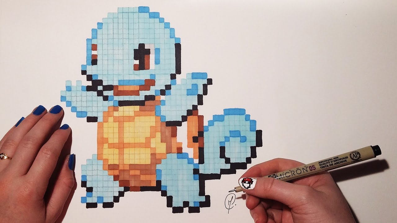 Pixel Art Pokemon Squirtle Speed Drawing