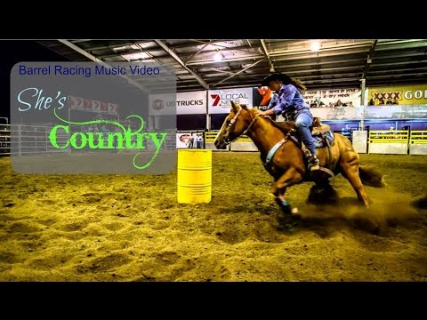 barrel racing music video ~ she's country