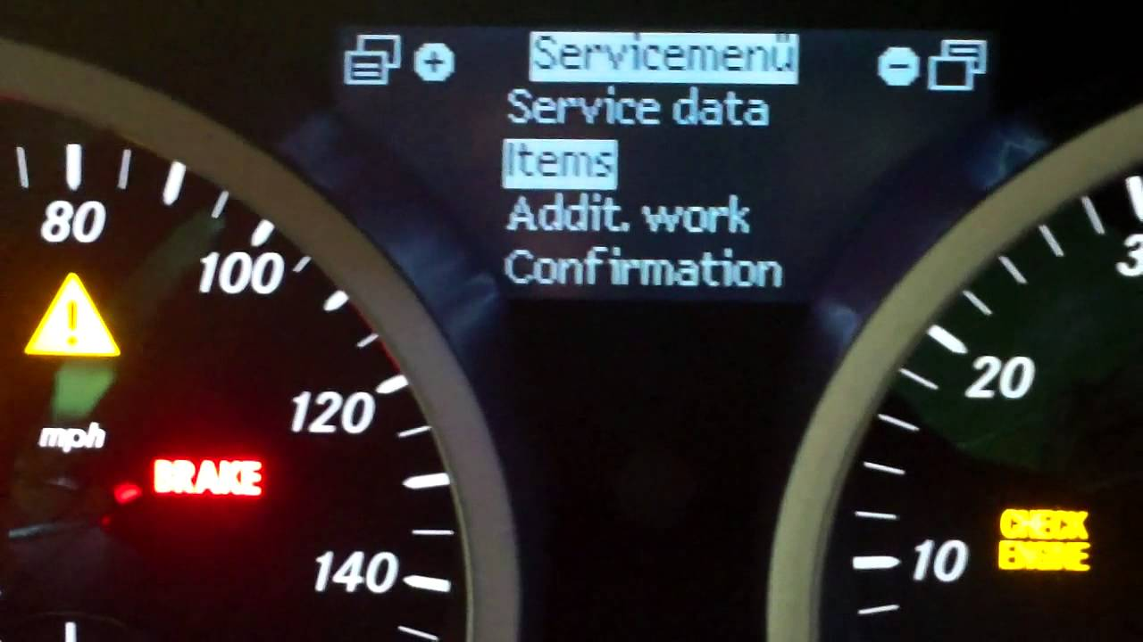 Mercedes Benz Slk 171 Service Reset For More Info Www