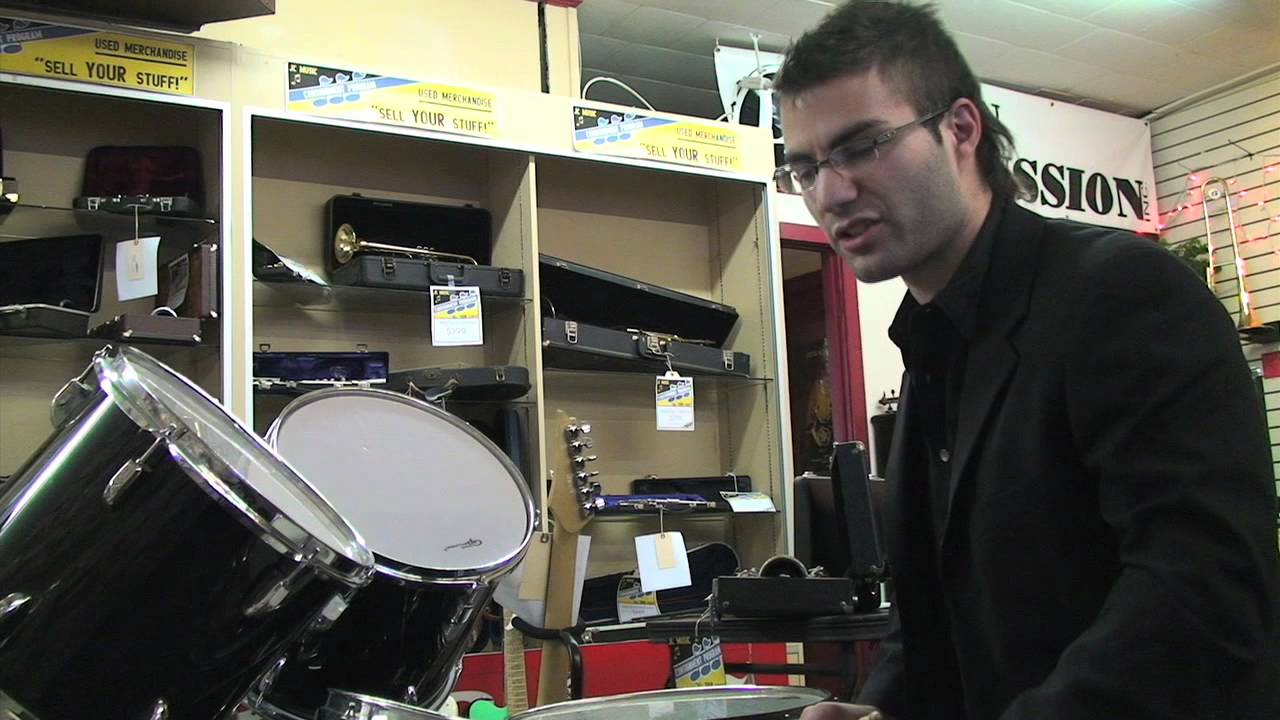 groove percussion drum kit on consignment at jc music youtube. Black Bedroom Furniture Sets. Home Design Ideas
