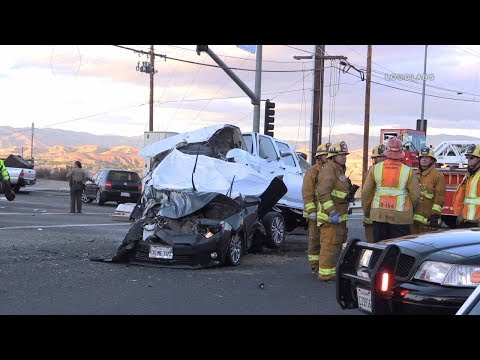 Fatal Bus Crash / Santa Clarita   RAW FOOTAGE