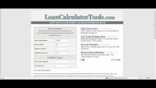 auto loan calculator template