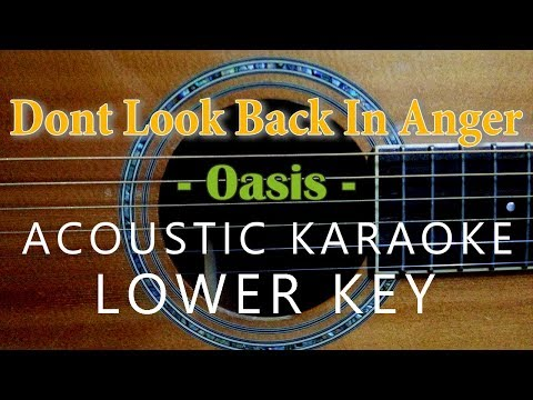 Don't Look Back In Anger - Oasis [Acoustic Karaoke   Lower Key]