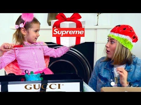 Mistery Box с GUCCI SUPREME и VANS для Кати и мамы / Угадай стоимость МЕГА ДОРОГОЙ коробки/ ЧЕЛЛЕНДЖ