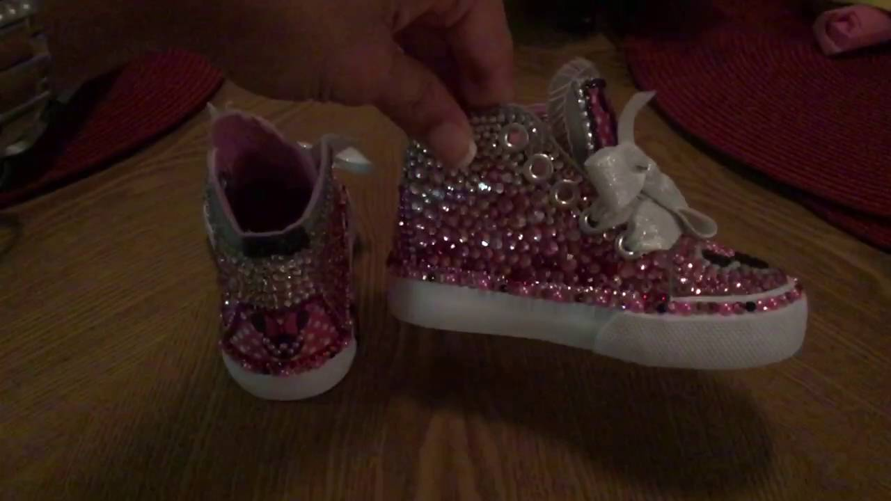Custom Minnie Mouse Bling Shoes - YouTube 9f938e611d0