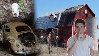 SNEAKING INTO HAUNTED FARM / BARN ( WE FOUND SKELETONS )