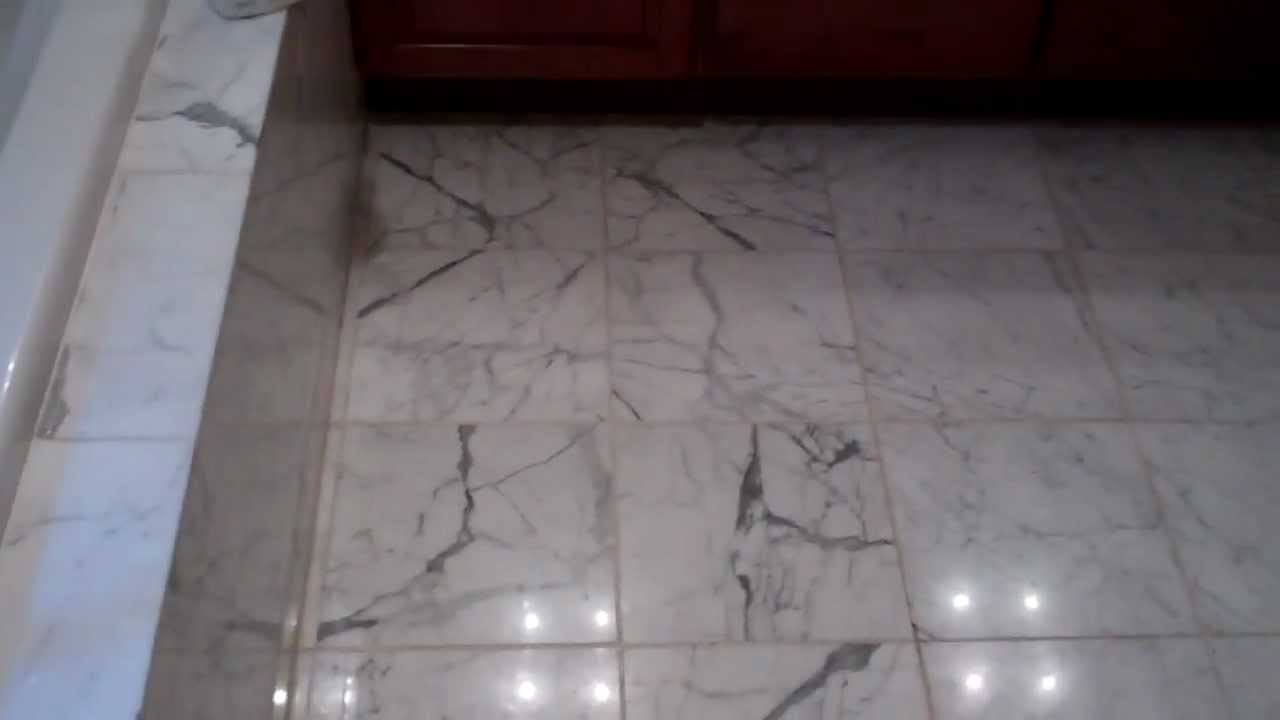 How To Properly Remove Old Grout From A Marble Floot Youtube