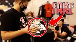 EXPOSING FAKE YEEZYS AT SneakerCon PRANK *Trolling Vendors*
