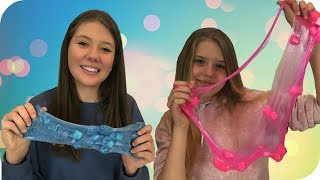 Jelly Cube Slime || Making Slime || Taylor and Vanessa