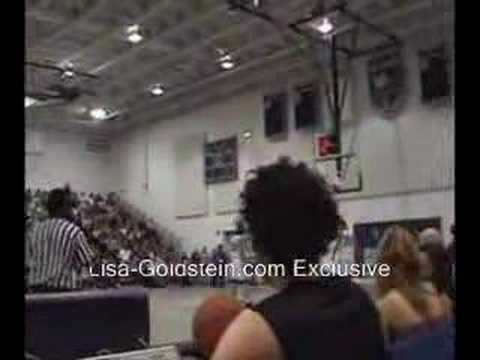 Lisa Goldstein at James Lafferty Chairty Game Sitting
