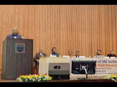 President Kovind addresses scientific community at Bhabha Atomic Research Centre