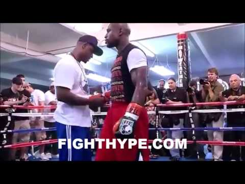 FLOYD MAYWEATHER NON-STOP 25-MINUTE WORKOUT FOR CANELO ALVAREZ (AUGUST 28, 2013)