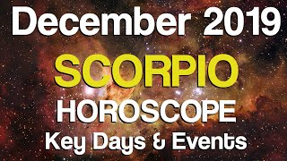 Scorpio December 2019 Horoscope